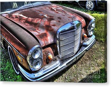 1965 Mercedes-benz Canvas Print by Paul Mashburn