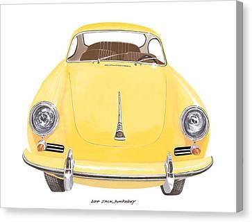 Porsche 356 A Canvas Print