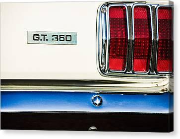 1965 Shelby Gt 350 Taillight Emblem Canvas Print by Jill Reger