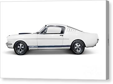 1965 Shelby Gt350 Mustang Retro Sports Car Canvas Print