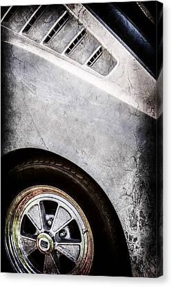 1965 Shelby Mustang Gt350 Emblem -0822ac Canvas Print