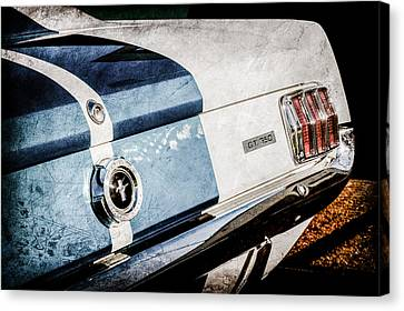 1965 Shelby Mustang Gt350 Taillight Emblem -0809ac Canvas Print