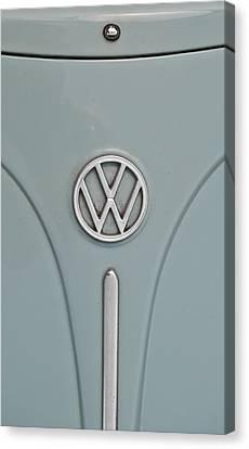 1965 Volkswagen Beetle Hood Emblem Canvas Print