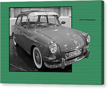 1965 Vw Notchback Canvas Print