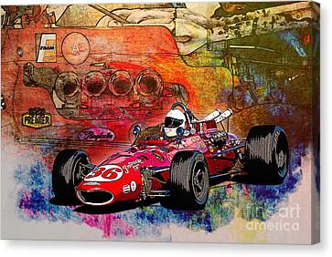 1966 9 Eagle Indy Canvas Print