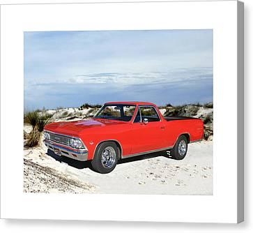 1966 Chevrolet El Camino 327 Canvas Print by Jack Pumphrey