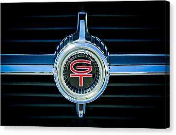 1966 Ford Fairlane Gt Grille Emblem Canvas Print by Jill Reger