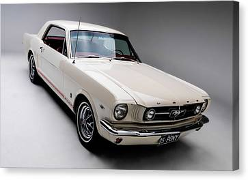 Canvas Print featuring the photograph 1966 Gt Mustang by Gianfranco Weiss