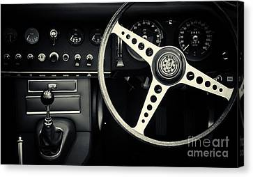 1966 Jaguar E Type Interior  Canvas Print by Tim Gainey