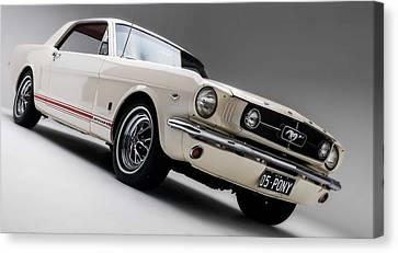 Canvas Print featuring the photograph 1966 Mustang Gt by Gianfranco Weiss