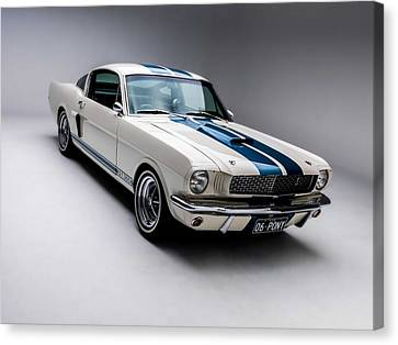 Canvas Print featuring the photograph 1966 Mustang Gt350 by Gianfranco Weiss