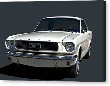 Canvas Print featuring the photograph 1966 Mustang by Tim McCullough