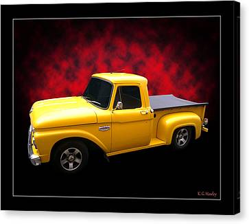 Canvas Print featuring the photograph 1966 Pickup by Keith Hawley