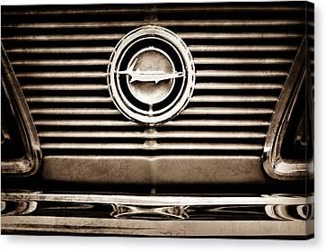 Plymouth Barracuda Canvas Print - 1966 Plymouth Barracuda - Cuda - Emblem by Jill Reger