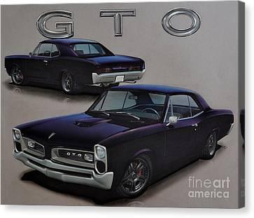 1966 Pontiac Gto Canvas Print by Paul Kuras