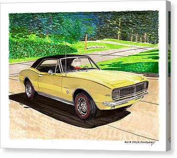 1967 Camaro Rs Art Canvas Print by Jack Pumphrey