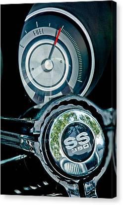 1967 Chevrolet Camaro  Ss Steering Wheel Emblem Emblem Canvas Print by Jill Reger