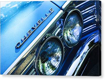 1967 Chevrolet Chevelle Malibu Head Light Emblem Canvas Print by Jill Reger