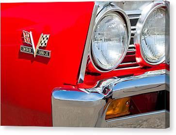 1967 Chevrolet Chevelle Ss Emblem Canvas Print by Jill Reger