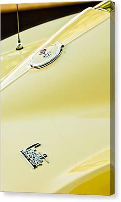 Chevy Coupe Canvas Print - 1967 Chevrolet Corvette Sport Coupe Emblem 2 by Jill Reger