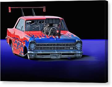1967 Chevrolet Nova Ss Pro Mod Canvas Print by Dave Koontz