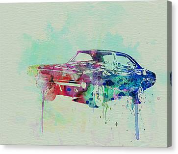 1967 Canvas Print - 1967 Dodge Charger  2 by Naxart Studio