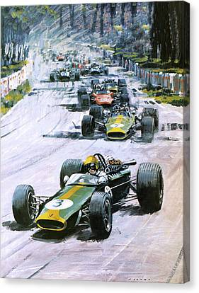 1967 French Grand Prix Canvas Print by Graham Coton