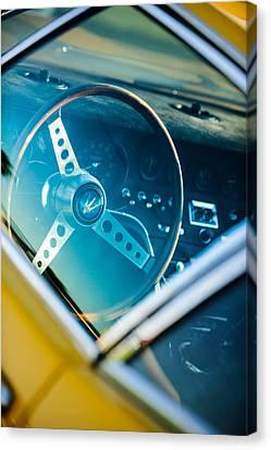 1967 Maserati Ghibi Steering Wheel Emblem Canvas Print by Jill Reger