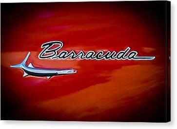 Plymouth Barracuda Canvas Print - 1967 Plymouth Barracuda Emblem by Jill Reger