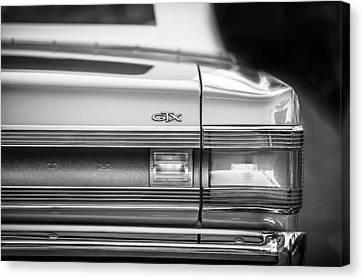 1967 Plymouth Belvedere Gtx Taillight Emblem -0963bw Canvas Print by Jill Reger