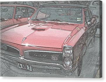1967 Pontiac Gto Canvas Print by Kay Novy