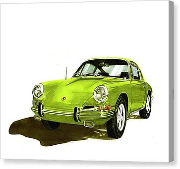 Porsche Targa 1967 Sports Car Vintage Ad Art Poster Canvas Print Carrera Turbo