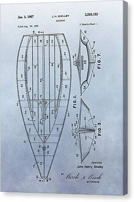 1967 Sailboat Patent Canvas Print by Dan Sproul
