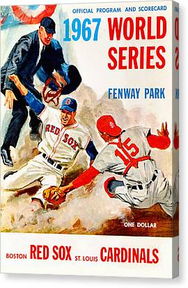 1967 World Series Program Canvas Print by Big 88 Artworks