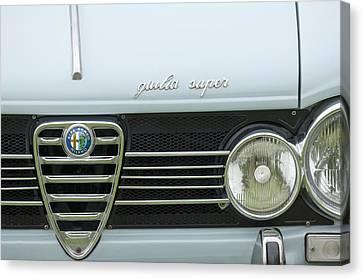1968 Alfa Romeo Giulia Super Grille Canvas Print by Jill Reger