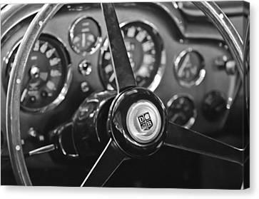 Aston Martin Canvas Print - 1968 Aston Martin Steering Wheel Emblem by Jill Reger