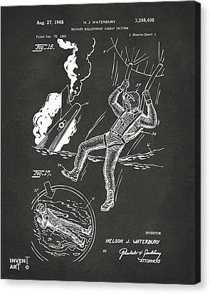 1968 Bulletproof Patent Artwork Figure 16 Gray Canvas Print by Nikki Marie Smith