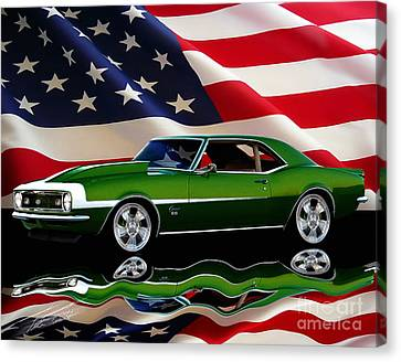 1968 Camaro Tribute Canvas Print by Peter Piatt