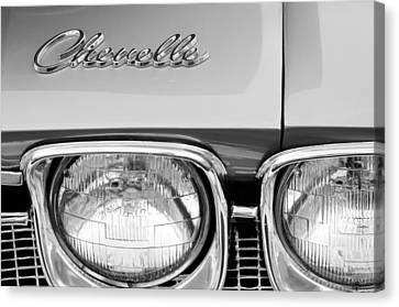 1968 Chevrolet Chevelle Hood Emblem Canvas Print by Jill Reger