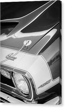 1968 Chevrolet Yenko Super Camaro Emblem -0653bw Canvas Print