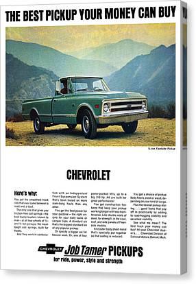 1968 Chevy 3/4 Ton Fleetside Pickup Truck Canvas Print