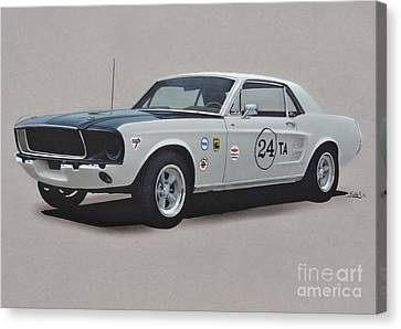 1968 Ford Mustang Race Car Canvas Print