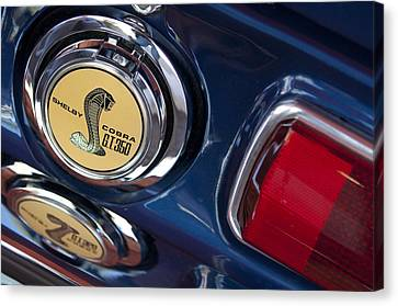 1968 Ford Mustang - Shelby Cobra Gt 350 Taillight And Gas Cap Canvas Print by Jill Reger