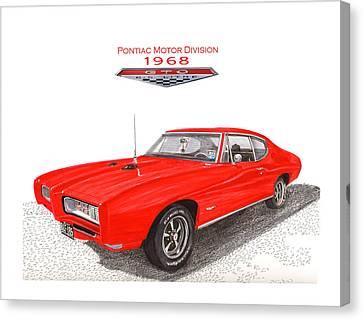 21st Century Canvas Print - 1968 Pontiac G T O  by Jack Pumphrey