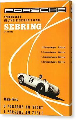 1968 Porsche Sebring Florida Poster Canvas Print by Georgia Fowler