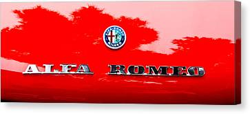 1969 Alfa Romeo Spider Veloce Iniezione Emblem Canvas Print by Jill Reger