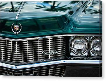 1969 Cadillac Eldorado Grille Emblem -0270c Canvas Print by Jill Reger
