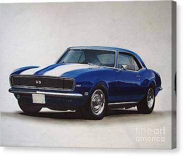 1969 Camaro Ss/rs Canvas Print by Paul Kuras