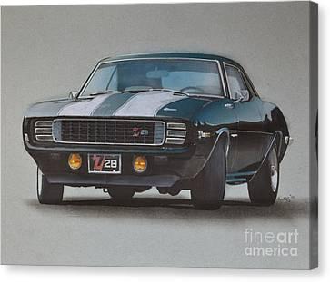 1969 Camaro Z28 Canvas Print by Paul Kuras