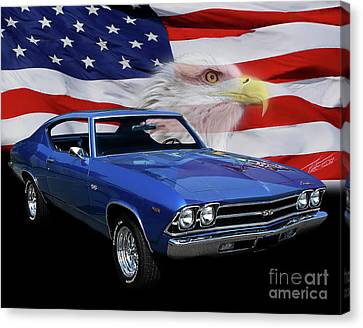 1969 Chevelle Tribute Canvas Print by Peter Piatt